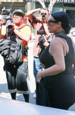 Pregnant KIM KARDASHIAN Out and About in Los Angeles 08/24/2015