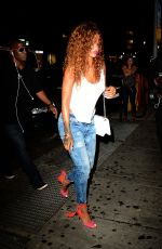 RIHANNA Arrives at 1oak in New York 08/11/2015