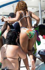 RIHANNA in Bikini at a Boat in Barbados 08/07/2015