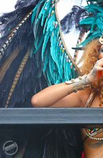 RIHANNA in Bikini at Kadooment Day in Barbados 08/03/2015