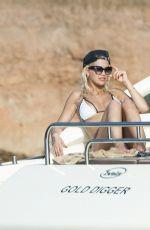 RITA ORA in Bikini on a Yacht in Ibiza 08/03/2015
