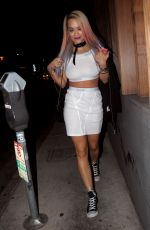 RITA ORA Leaves Nobu Restaurant in Los Angeles 08/27/2015