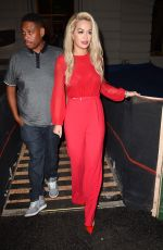 RITA ORA Leaves Nobu Restaurant in New York 08/12/2015