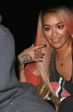 RITA ORA on a Late Night Date with Wiz Khalifa in Los Angeles 08/17/2015
