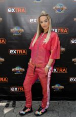RITA ORA on the Set of Extra at Universal Studios in Hollywood 08/21/2015