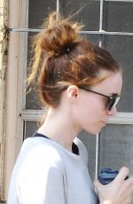 ROONEY MARA Out and About in Los Angeles 08/19/2015