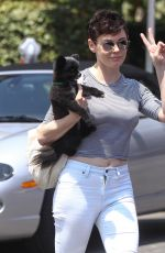 ROSE MCGOWAN Out and About in West Hollywood 08/20/2015