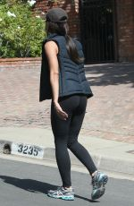 ROSELYN SANCHEZ in Tights Out Hiking in Los Angeles 08/18/2015