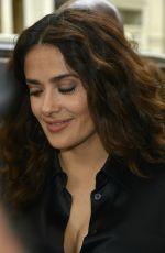 SALMA HAYEK Arrives at Apple Store in New York 08/06/2015