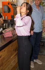 SALMA HAYEK at a Juice Bar in New York 08/05/2015