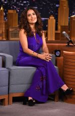 SALMA HAYEK at The Tonight Show with Jimmy Fallon 08/06/2015