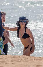 SALMA HAYEK in Bikini at a Beach in Hawaii