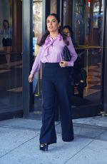 SALMA HAYEK Leaves an Office in Brooklyn 08/04/2015