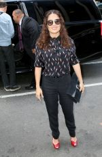 SALMA HAYEK Out and About in New York 08/06/2015