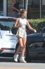 SARAH HYLAND Leaves a Starbucks in Los Angeles 08/01/2015