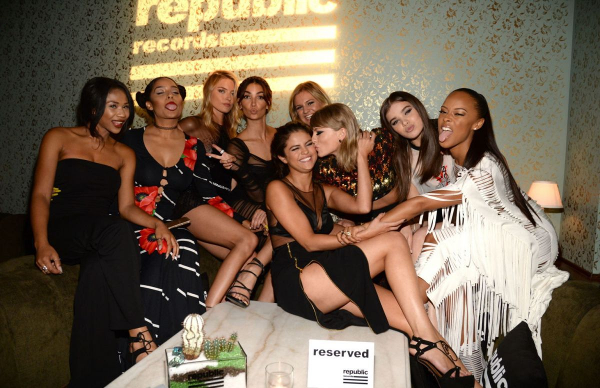 SELENA GOMEZ and TAYLOR SWIFT at Republic Records VMA After-party in West Hollywood