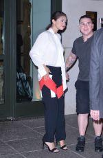 SELENA GOMEZ Leaves Her Hotel in New York 08/19/2015