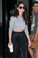 SELENA GOMEZ Out and About in New York 08/19/2015