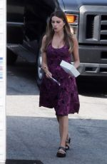 SOFIA VERGARA on the Set of Modern Family in Los Angeles 08/20/2015