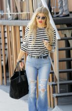 STACY FERGIE FERGUSON in Jeans Out and About in Hollywood 08/20/2015