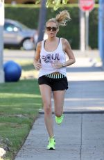 STEPHANIE PRATT Working Out at a Park in Hollywood 07/25/2015