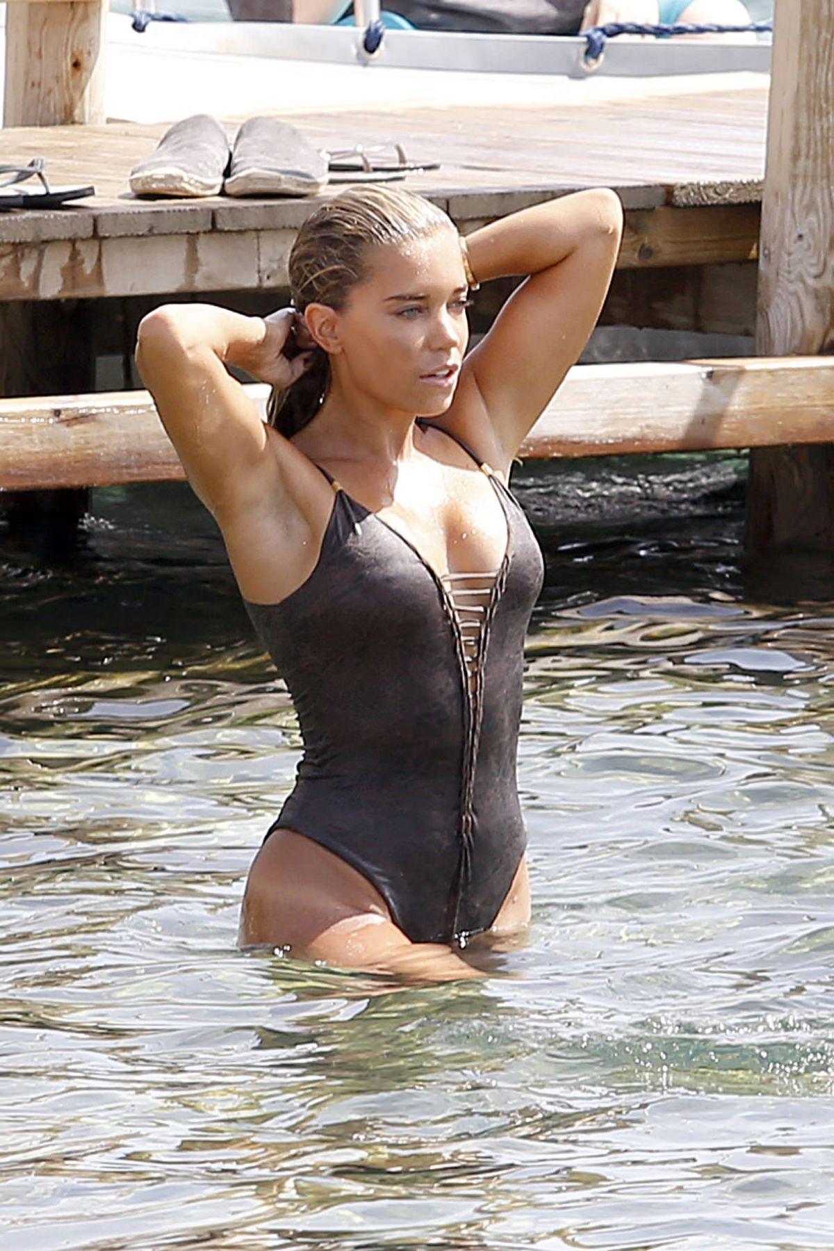 SYLVIE MEIS in Bikini on the Beach of Ibiza 03/08/2015