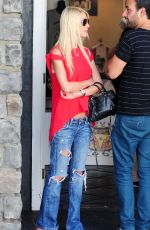 TARA REID in Ripped Jeans Out and About in Los Angeles 08/03/2015