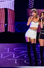 TAYLOR SWIFT and SELENA GOMEZ Performs at 1989 World Tour at Staples Center in Los Angeles 08/26/2015