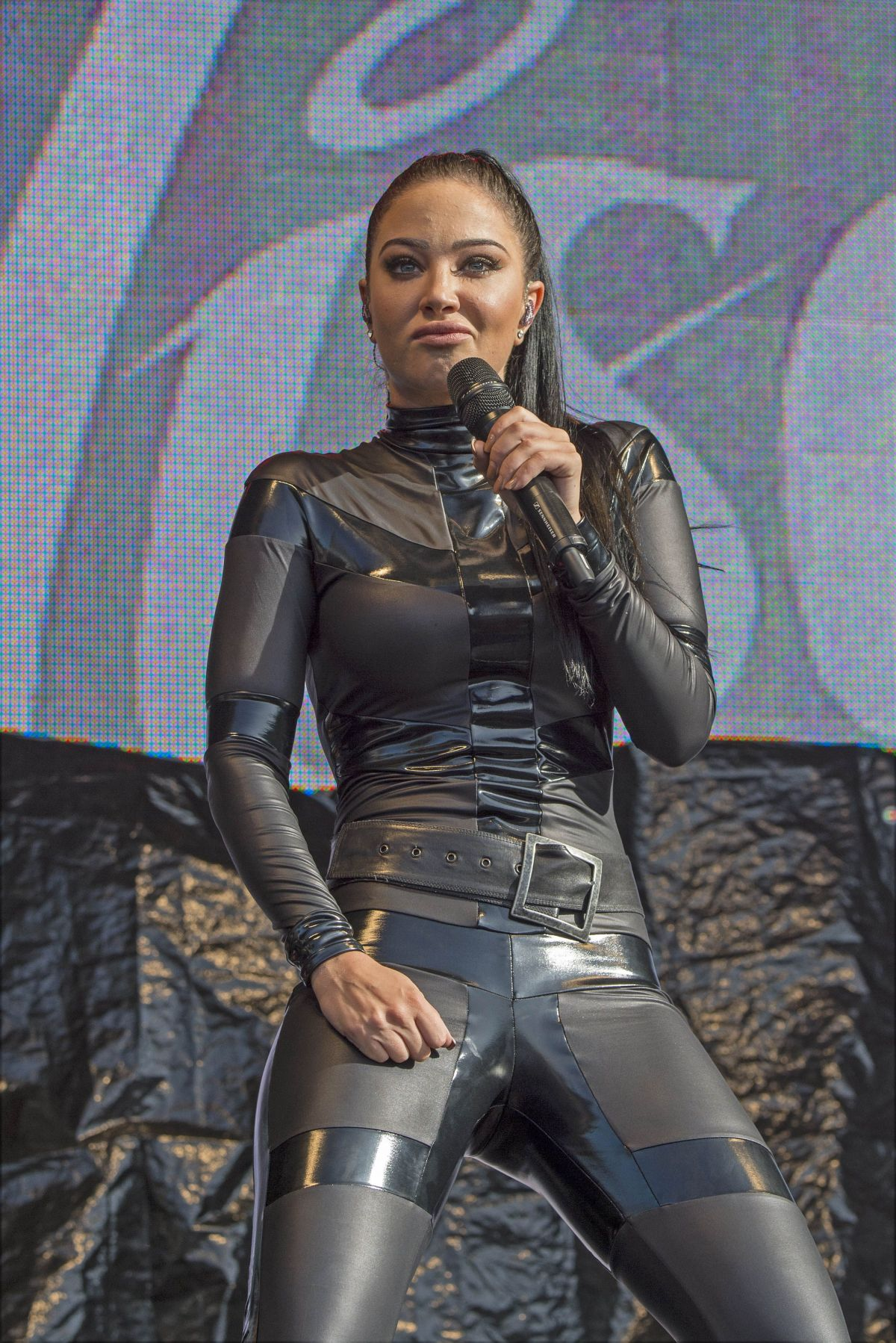 TULISA CONTOSTAVLOS in Rubber Catsuit Performs at Brighton Gay Pride 08/01/2015