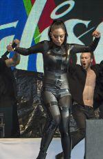 TULISA CONTOSTAVLOS in Rubber Catsuit Performs at Brighton Gay Pride 08/01/2015