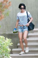 VANESSA HUDGENS in Cut-off Leaves Her House in Studio City 08/22/2015