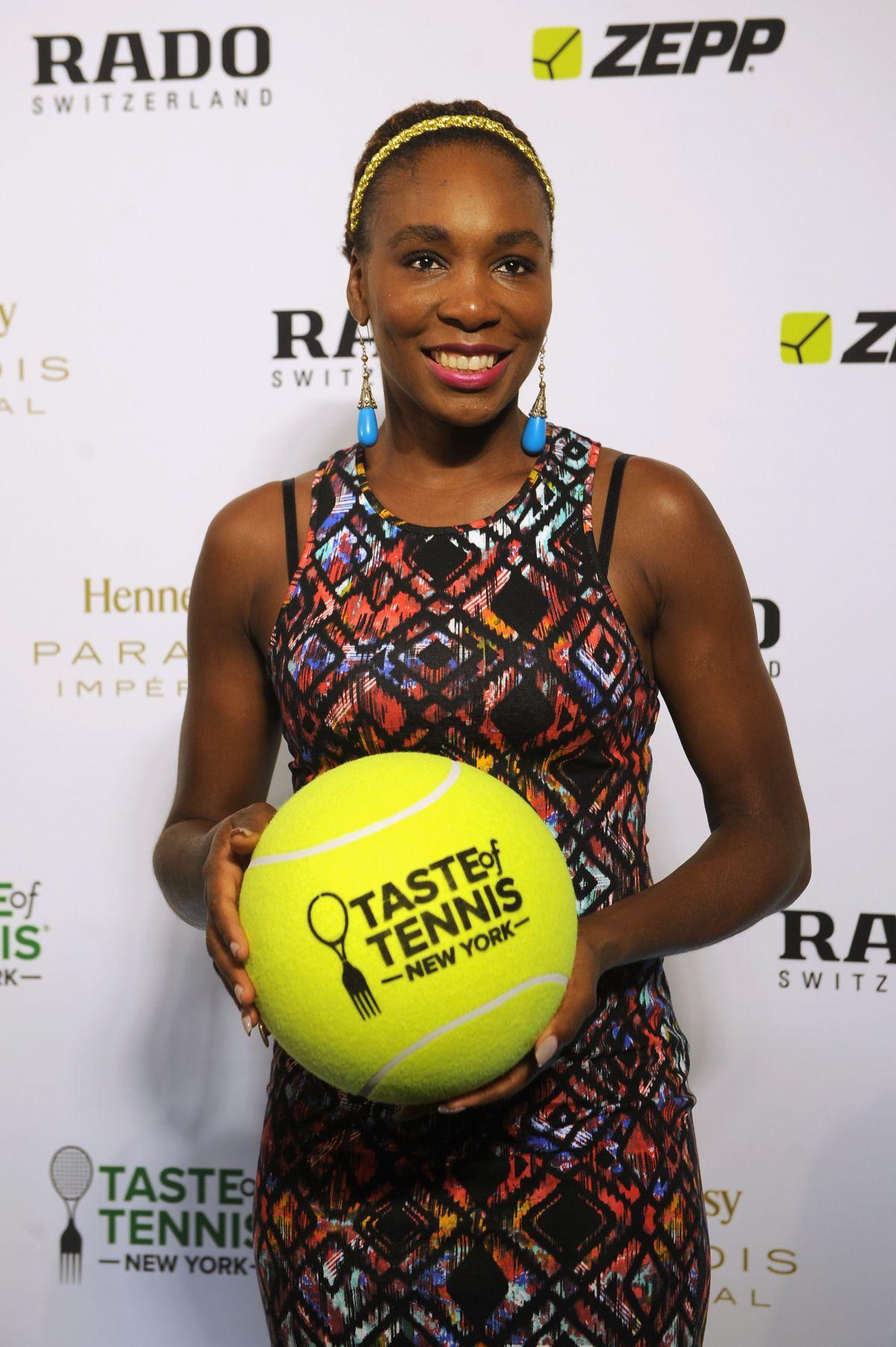 VENUS WILLIAMS at Taste of Tennis Gala in New York HawtCelebs