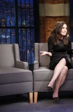 WINONA RYDER at Late Night With Seth Meyers in New York 08/10/2015