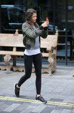 ZENDAYA in Tights Leaves Her Hotel in London 08/12/2015