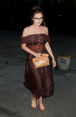 ZOEY DEUTCH Arrives at Taylor Swift's Concert in Los Angeles