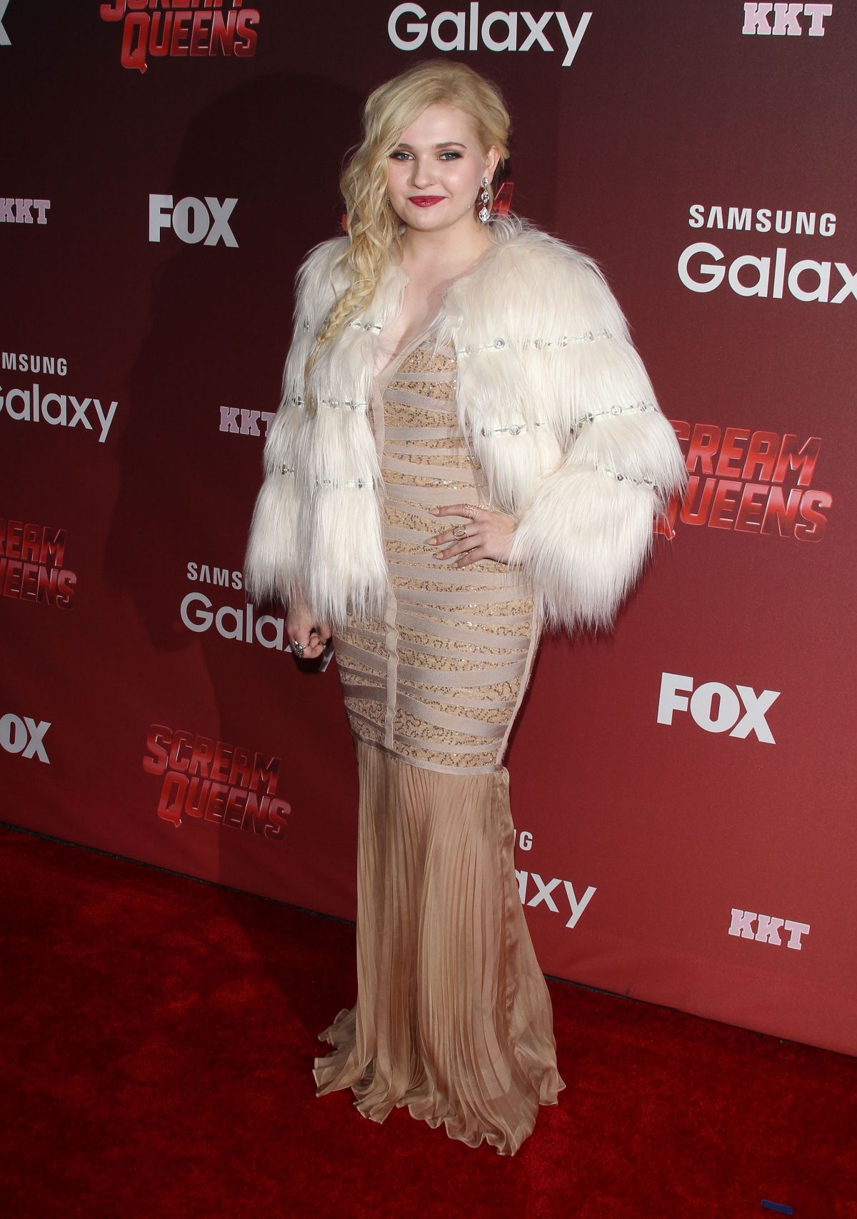 ABIGAIL BRESLIN at Scream Queens Premiere in Los Angeles 09/21/2015