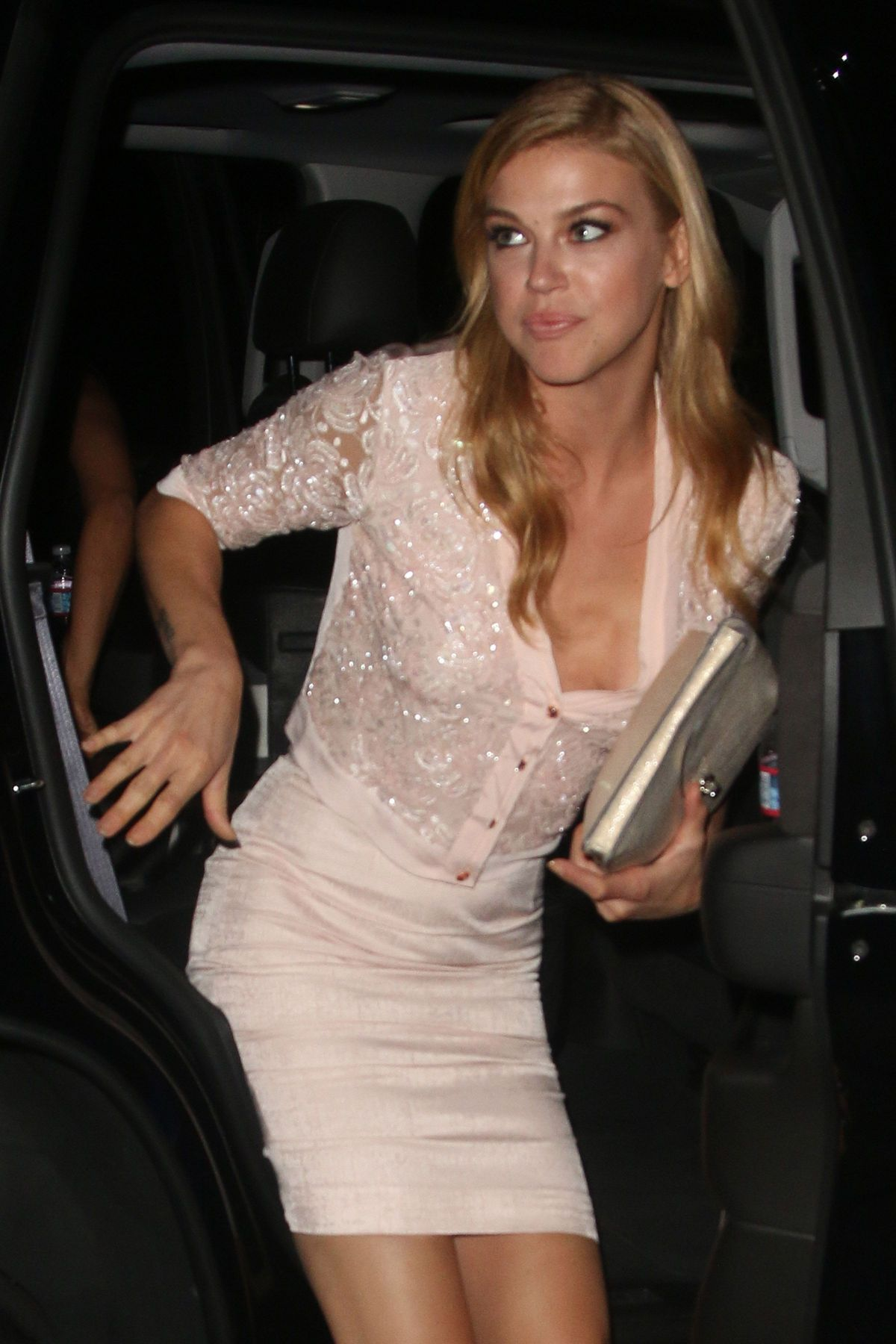 ADRIANNE PALICKI Arrives at Chateau Marmont in West Hollywood 09/16/2015