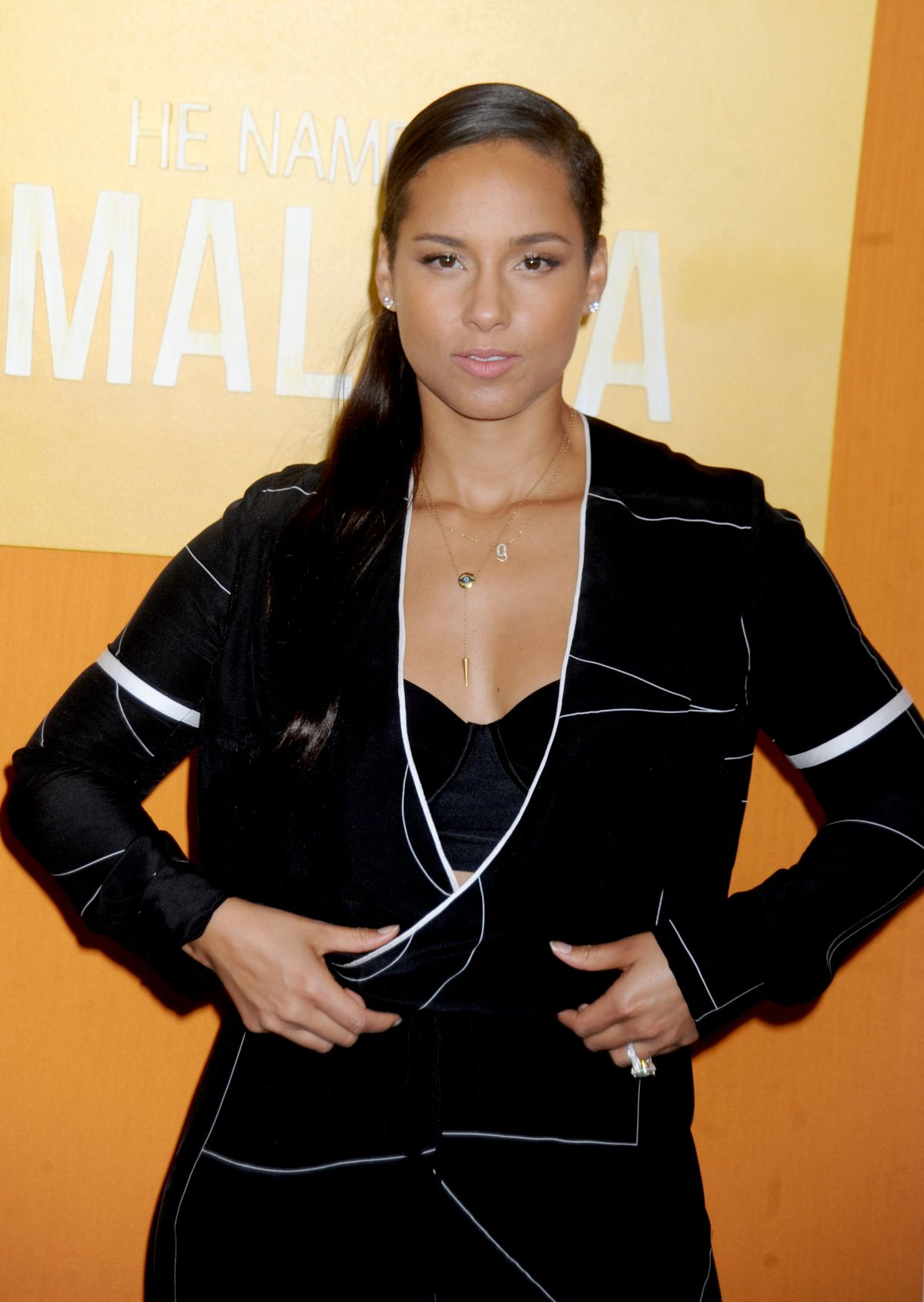 ALICIA KEYS at He Named Me Malala Premiere in New York 09/24/2015