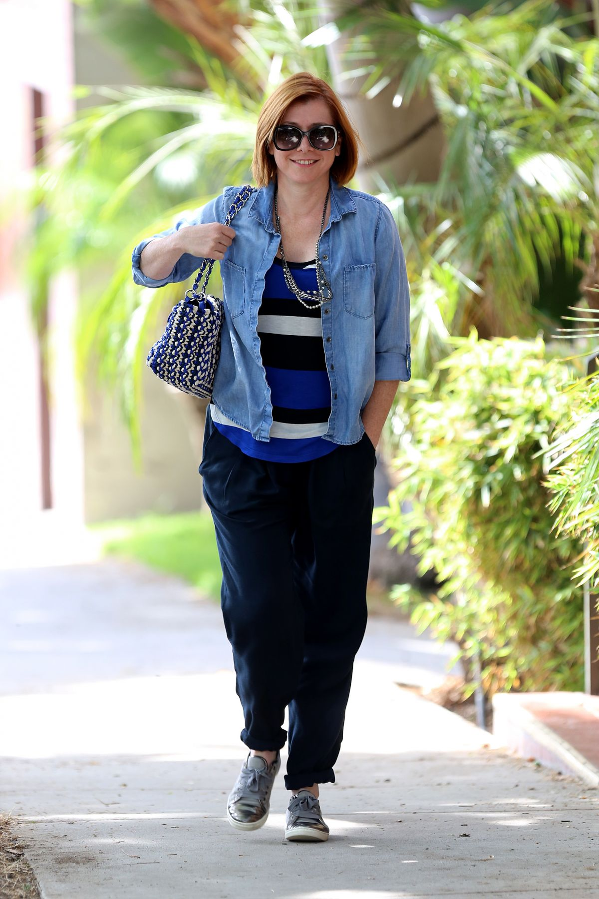 ALYSON HANNIGAN Out and About in Hollywood 09/01/2015