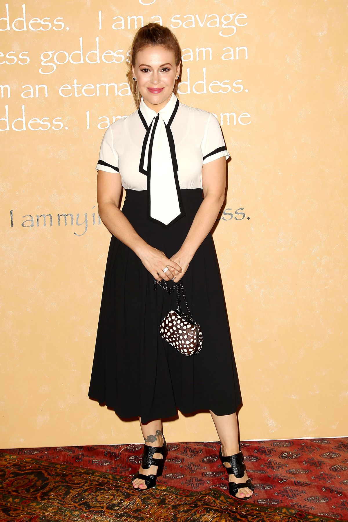 ALYSSA MILANO at Alice + Olivia by Stacey Bendet Fashion Show at New York Fashion Week 09/15/2015