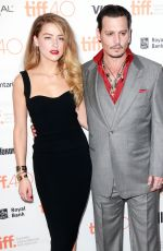 AMBER HEARD at Black Mass Premiere at The Elgin in Toronto 09/14/2015