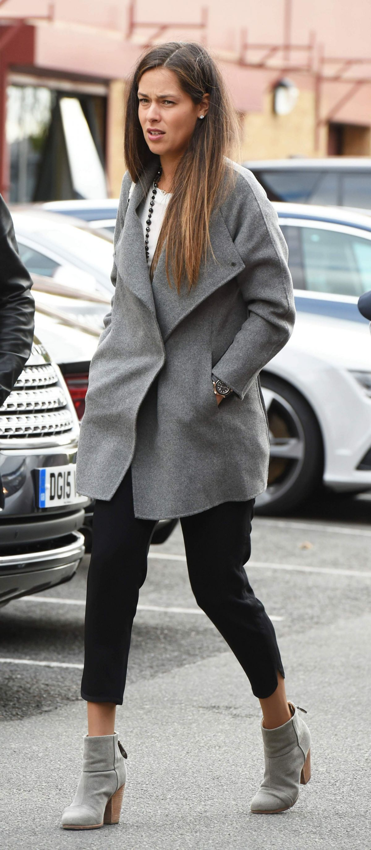 ANA IVANOVIC Arrives at Old Trafford to Watch Machester United vs Liverpool 09/12/2015