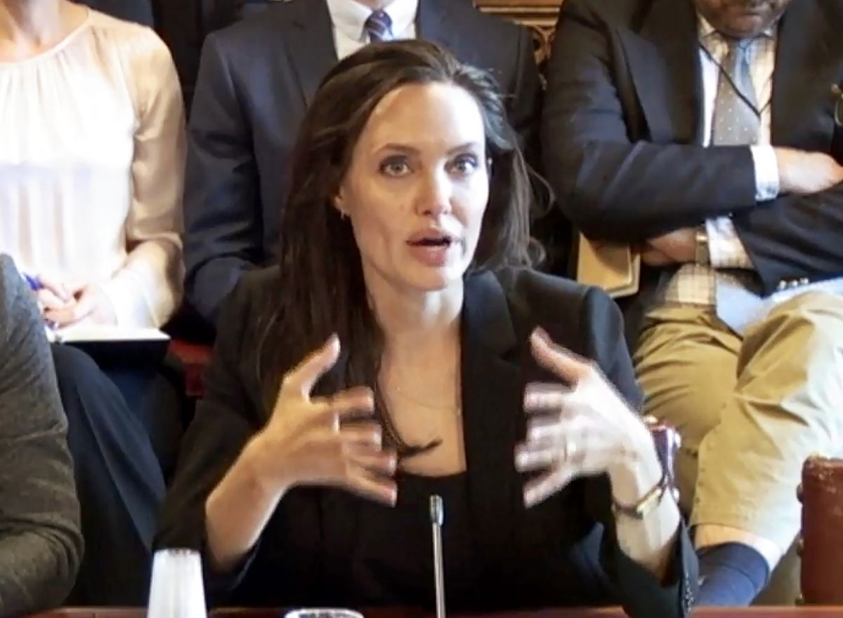 ANGELINA JOLIE at House of Lords in London 09/08/2015