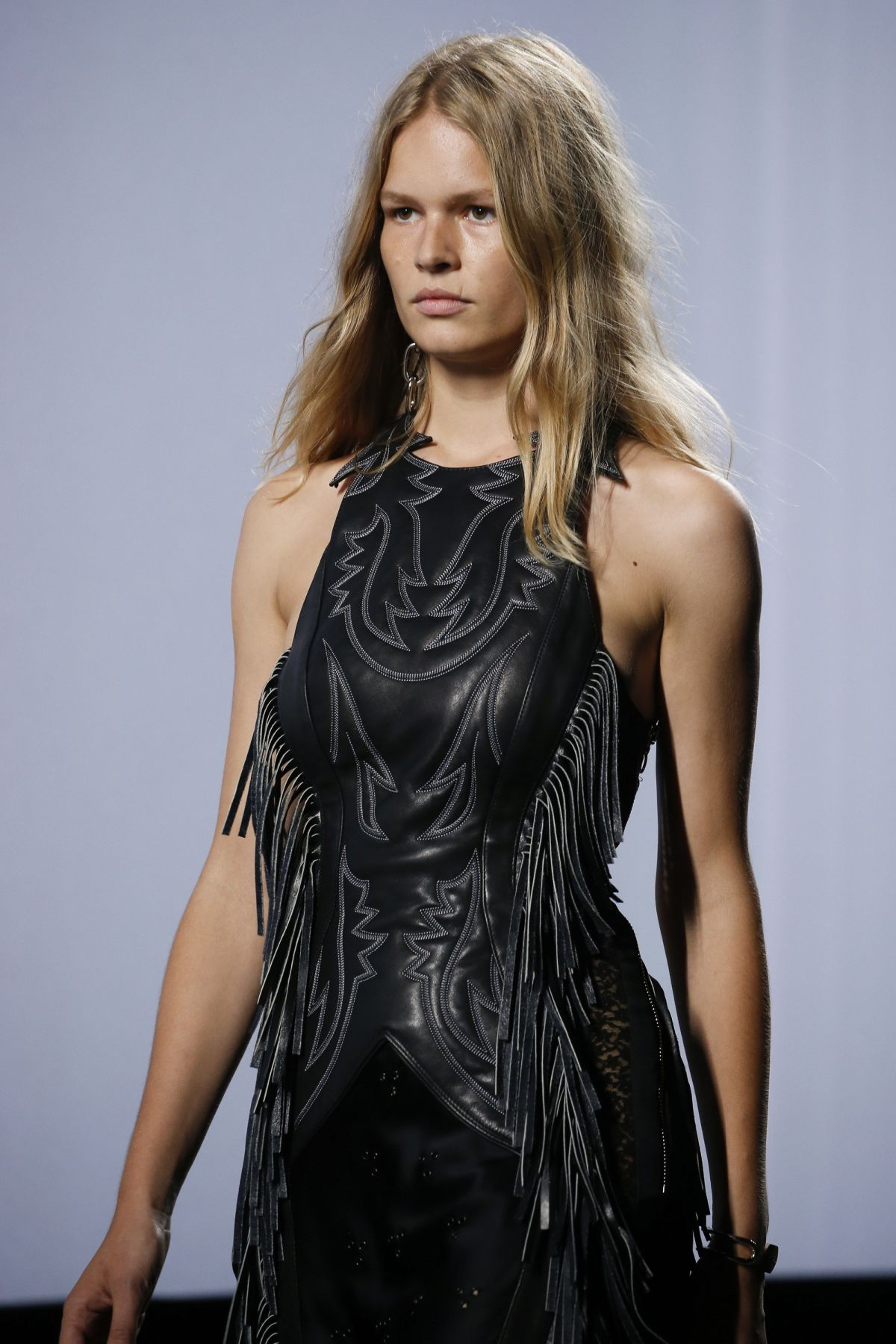 Anna Ewers By Karl Lagerfeld For: ANNA EWERS At Alexander Wang Fashion Show In New York