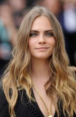 CARA DELEVINGNE at Burberry Womenswear Fashion Show in London 09/21/2015