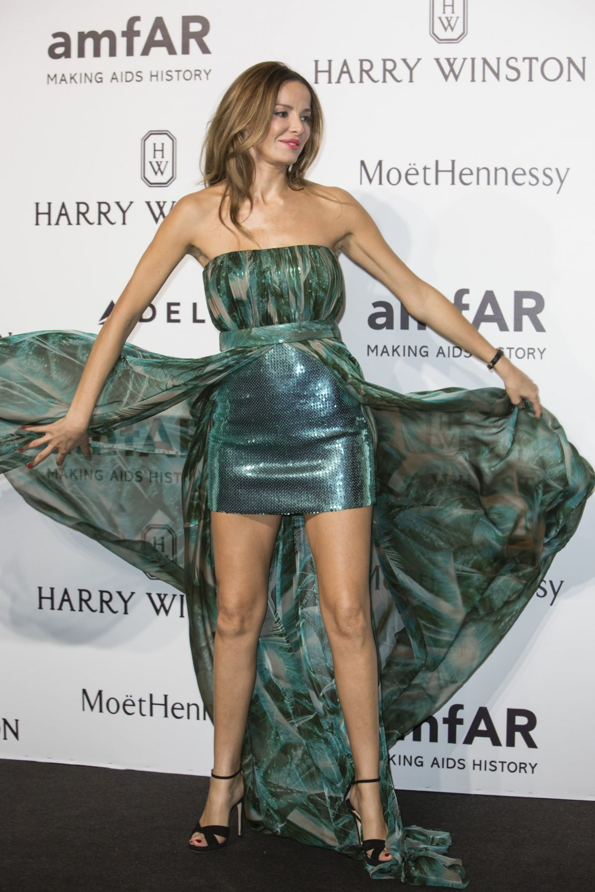 CAROLINA PARSONS at amfAR Gala in Milan 09/26/2015