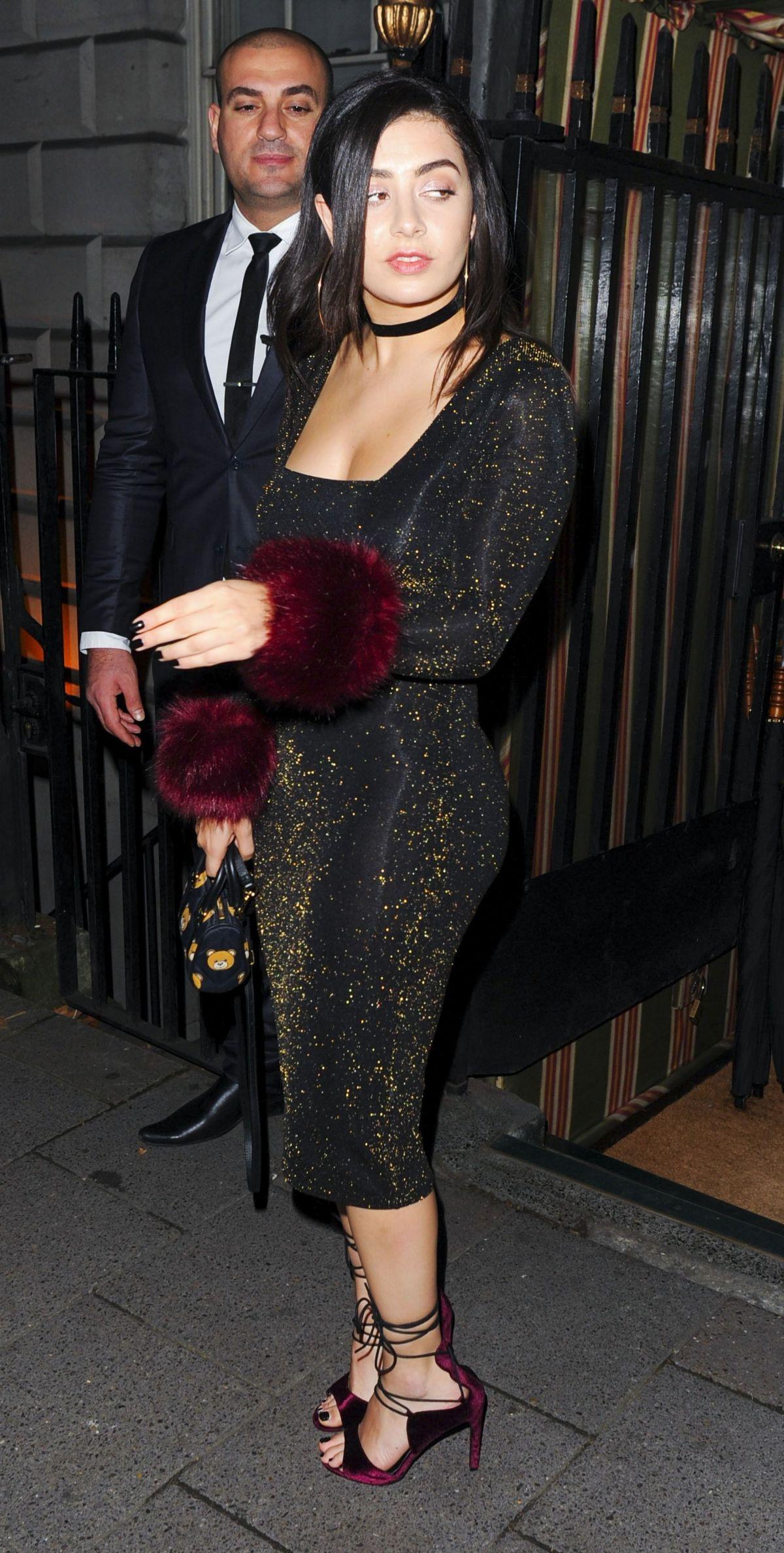 CHARLI XCX Arrives at Selena Gomez