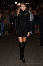 CHIARA FERRAGNI at Zac Posen Fashion Show at New York Fashion Week 09/14/2015