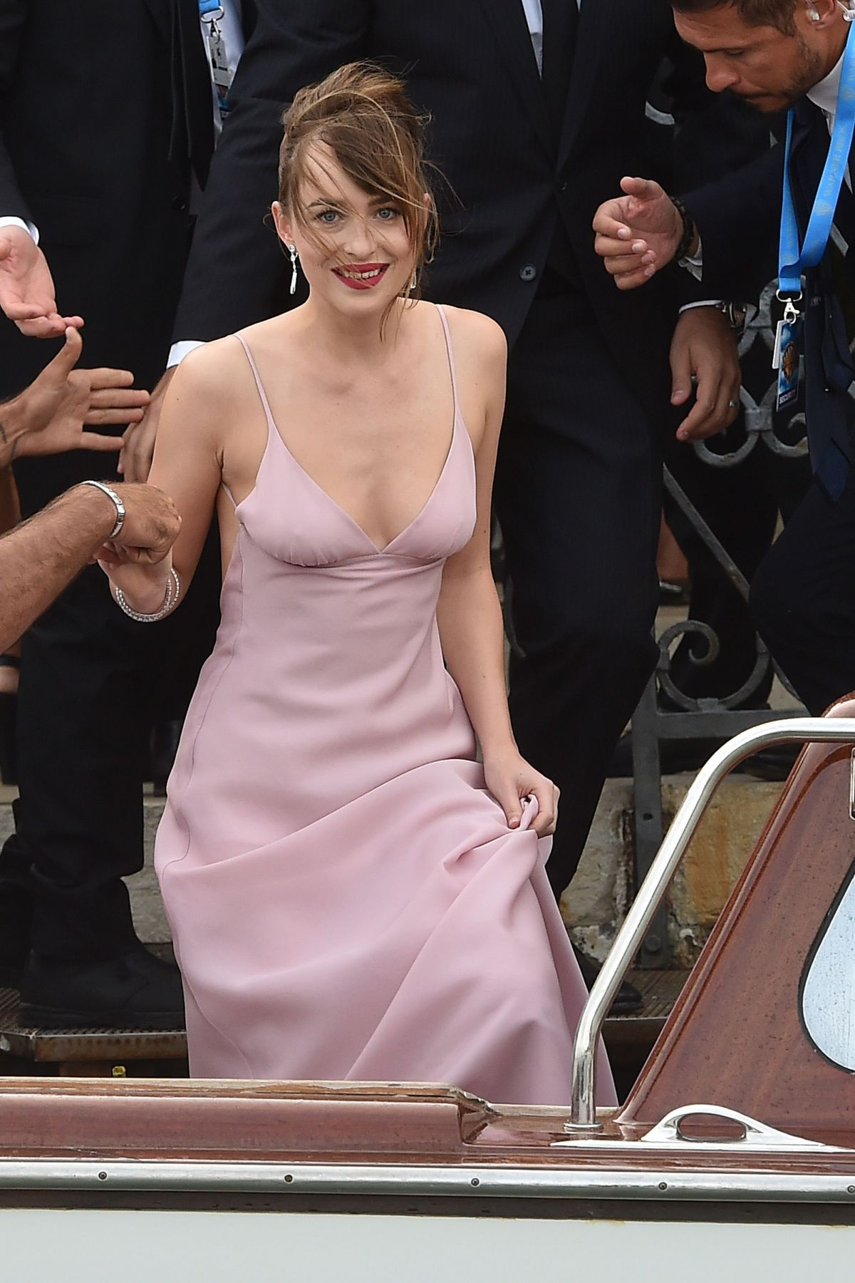 DAKOTA JOHNSON Arrives at Black Mass Premiere in Venice 09/04/2015