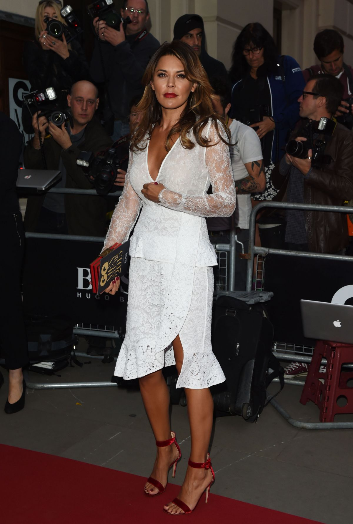 DANIELLE LINEKER at GQ Men of the Year 2015 Awards in London